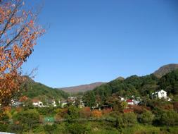 周りの山々も紅葉